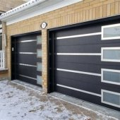 Frosted Glass Garage Doors