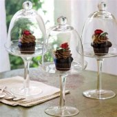 Glass Cupcake Stand With Cloche
