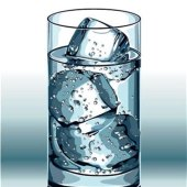 Glass Ice Cubes Vector