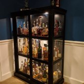 Glass Whisky Cabinet